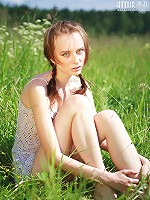 Teen Poses Outdoors