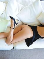Alexa Loren a sexy brunnette shows off her sweet tits