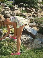 Alexa Hosing Down and Stuffing Her Panties Deep