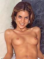 Nella Gets Wet in a See-Through Bikini