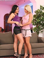 Alica and Nikol - Luscious teens undress and fondle