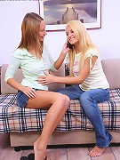 Alla and Jodi - Delightful teens strip and dildo