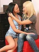 Liza and Angellina - Lithe teens undress and lick twats