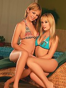 Nikitta and Beatrice - Gorgeous teens lick twats and butts