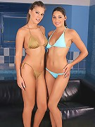 Cherie and Zafira - Vixens in bikini strip and have sex