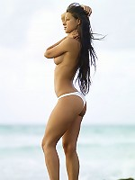 Melissa White Bikini