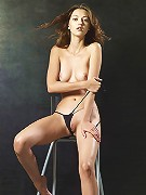 Anna S Nude on a Stool