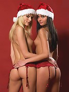 Sofia And Jana Red Xmas