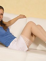 Petite teen Nadya invites you to come and get to know her better.