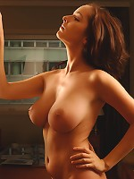 Brunette with large tits