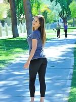 Sabrina jogging nude