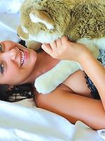 Annalisa panty stuffing and dildo insertion