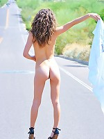 Malena naked on the road side
