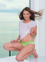 Playful cutie Allie Haze gets naked as she proudly shows her sweet curves and her delicious puffy tits and round ass