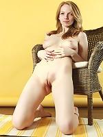 Naturally blonde naked girl Claudia