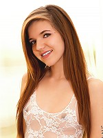 Nubiles.net Alaura Lee - Sexy brunette spinner Alaura Lee rubs body cream all over her tiny body