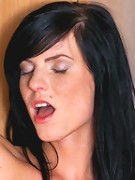 Nubiles.net Eileen - Nubile Eileen strips her skirt and tames her needy twat with a glass dildo fuck