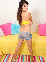 Nubiles.net Danni_dillion - Long haired Nubile hottie strips off and pleasures her tight pussy with her fingers