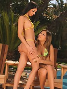 Brooke and Anitta - Teen vixens oil up their hot bodies