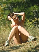 Zemani.com Karina - Busty young girl shows her perfect body at the mountains.